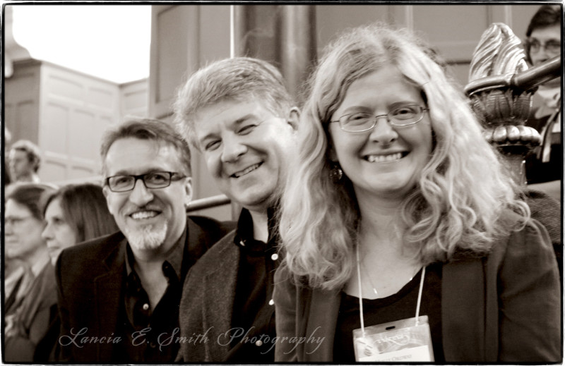 Steve Bell, Kevin Belmonte, and Holly Ordway at the Sheldonian in Oxford - Image copyright Lancia E. Smith and the C.S. Lewis Foundation, 2011