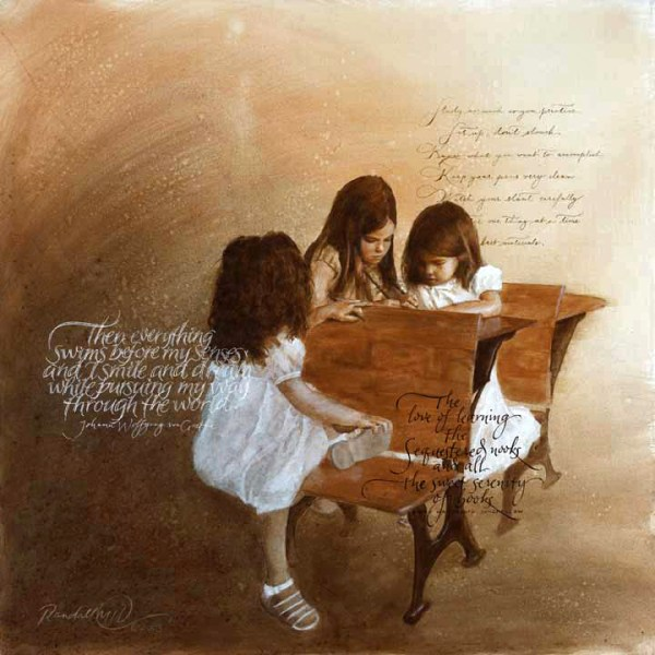 The Writing Lesson - Copyright Randall M. Hasson - Art Inspired Conversations