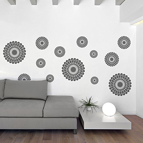 Gray Flowers Wall Decal