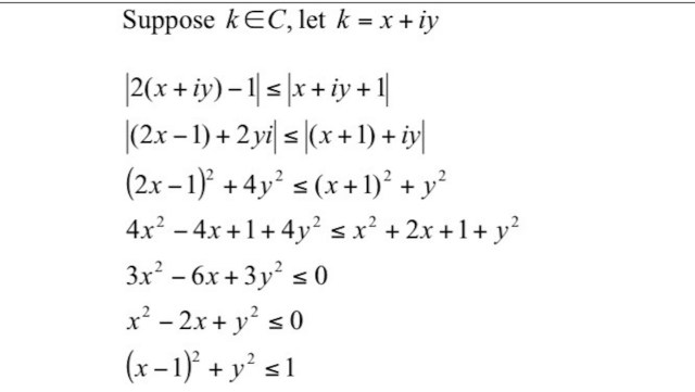 Modulus of a Complex Number