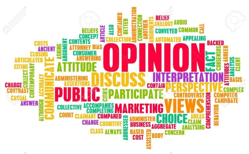'Everyone has an opinion, but not everyone's opinion is of equal value.' What is your view?
