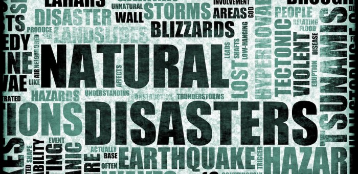 Assess the view that most natural disasters are the result of human activity.