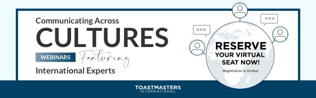 Toastmasters Webinar series