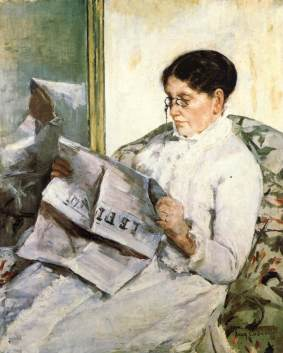 'Reading Le Figaro', 1883