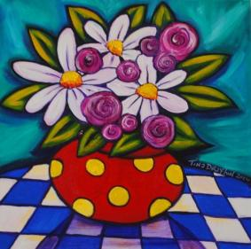 Flowers in Vase, by Tina Drayton