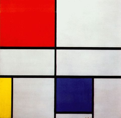 Piet Mondrian Composition C (No.III) with Red, Yellow and Blue, 1935