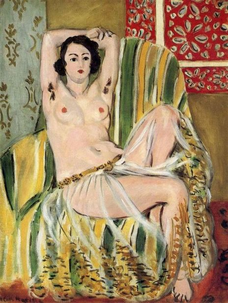 Henri Matisse, Odalisque with Raised Arms, 1923