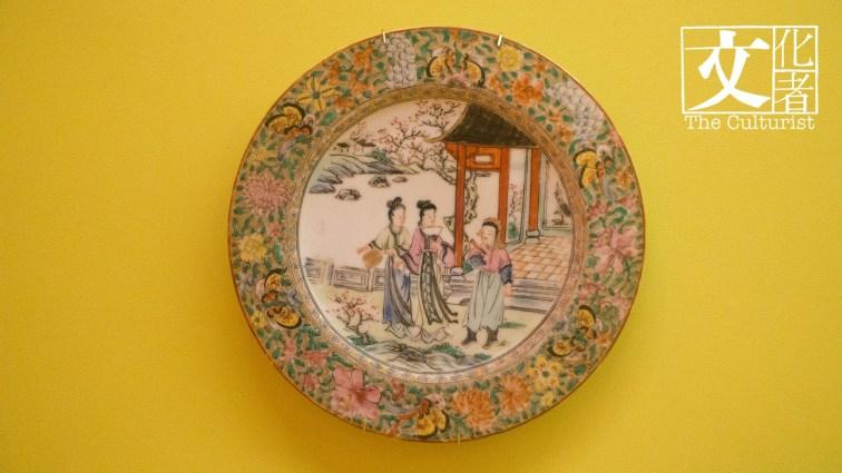 西廂記,1940至1950年代全手繪廣彩餐碟,用景德鎮白瓷胎