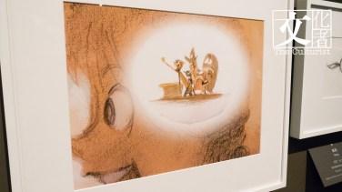 阿樂 Albert Lozano 粗頭墨水筆及油性鉛筆繪製紙本複本