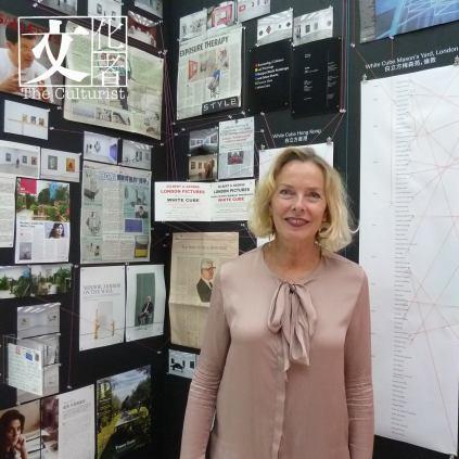白立方公共藝術以及藝術委任總監Andrea Schlieker在「記憶膠囊」裏留影