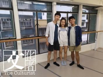 陳漢傑(左)、岑珮榕(中)和陳元樟(右)