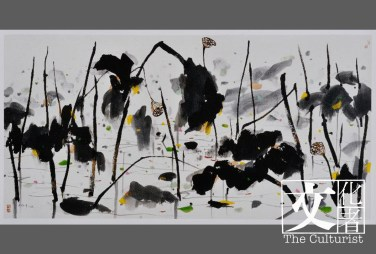 作品《荷塘(雙印)》,捐贈於2014