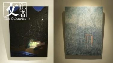 楊學德作品《下一站係》(左)和《邊個會打嚟》(右)。