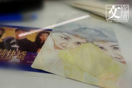 畫家用水彩筆,呈現王家衛鏡頭下王菲的靦腆。