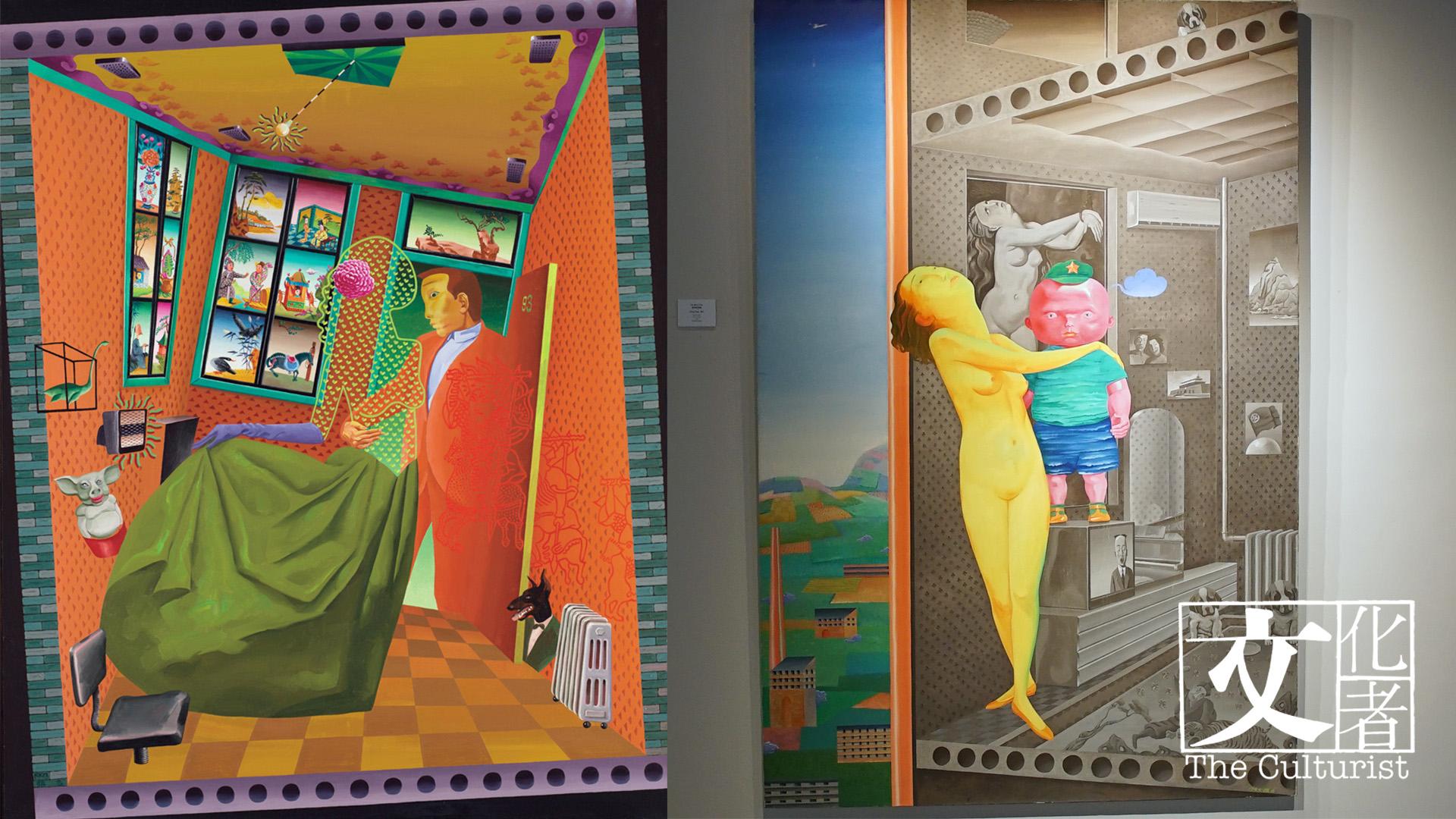 這張圖片的 alt 屬性值為空,它的檔案名稱為 張弓1993年作品《情人要素》(左)及1995年作品《勇敢的湯姆之一》(右).jpg