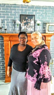 Meme n Mrs. C-ham ( one of my adopted daughters/also cousin)