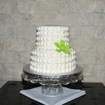 Buttercream cake, wedding cake, miami wedding