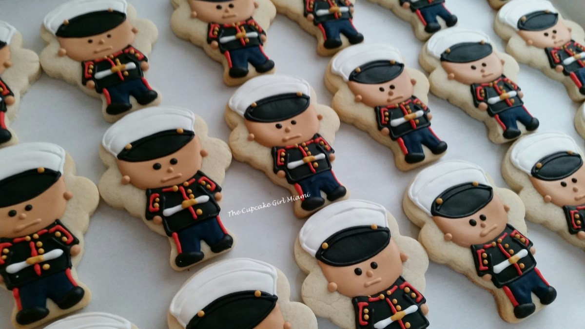 US Marines cookie, military cookies, sugar cookies,