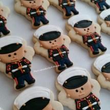 US Marines cookie, military cookies, sugar cookies,