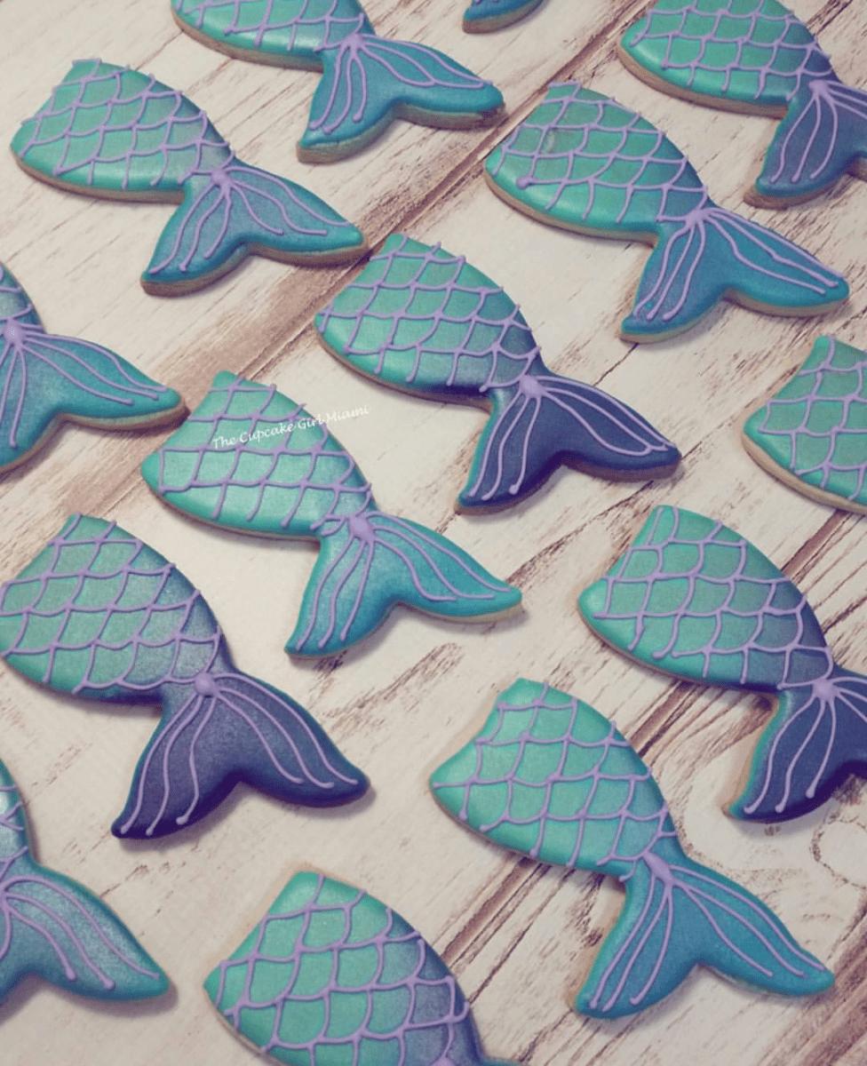 Mermaid cookies, under the sea cookies