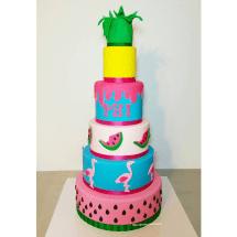 Tropical cake, Flamingo cake