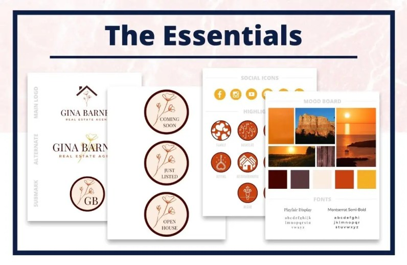 The Gina Collection - The Essentials - Real Estate Branding Bundle for Women