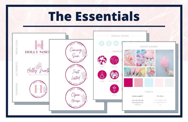 The Holly Collection - The Essentials - Real Estate Branding Bundle for Women