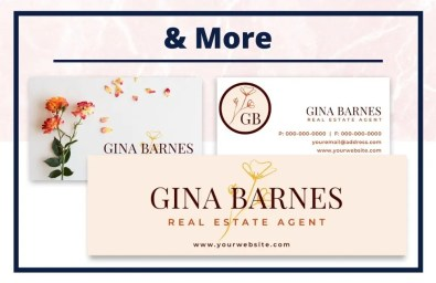 The Gina Collection - Business Card - Real Estate Branding Bundle for Women