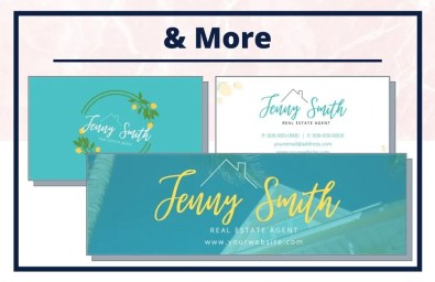 The Jenny Collection - Business Card - Real Estate Branding Bundle for Women