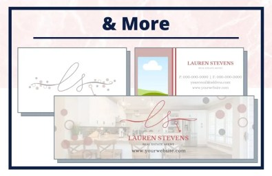The Lauren Collection - Business Card - Real Estate Branding Bundle for Women