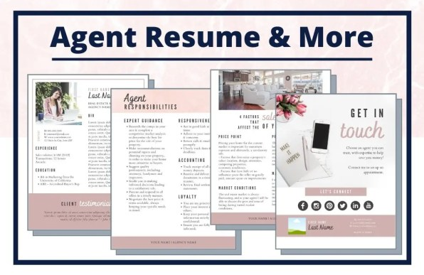 Complete Real Estate Seller Resource Guide - Agent Resume - Editable Canva Template