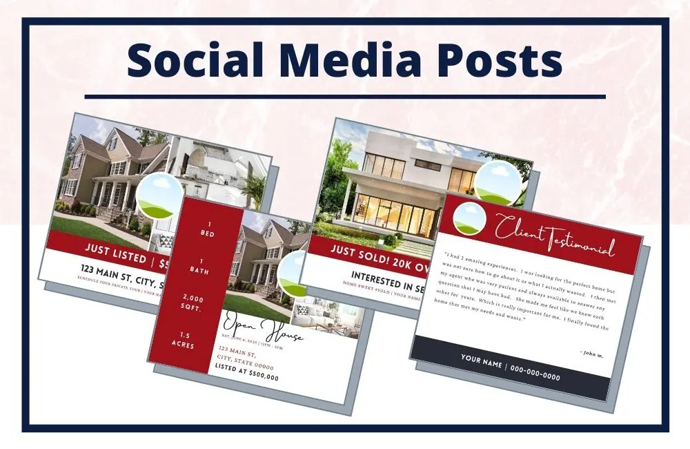The Chloe Collection - Social Media Posts - Real Estate Branding Bundle for Women
