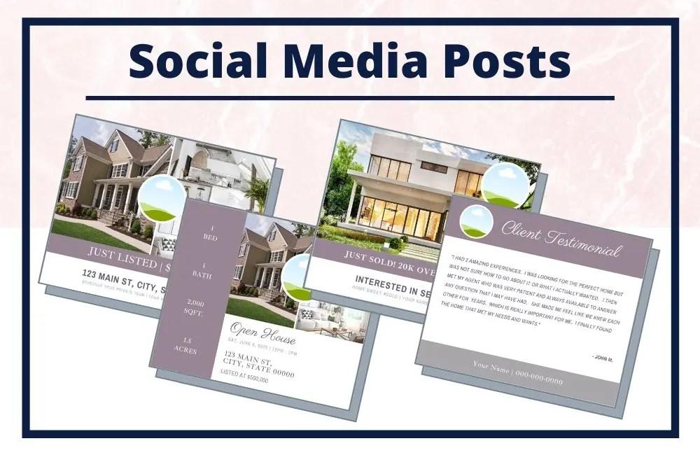 The Ella Collection - Social Media Posts - Real Estate Branding Bundle for Women