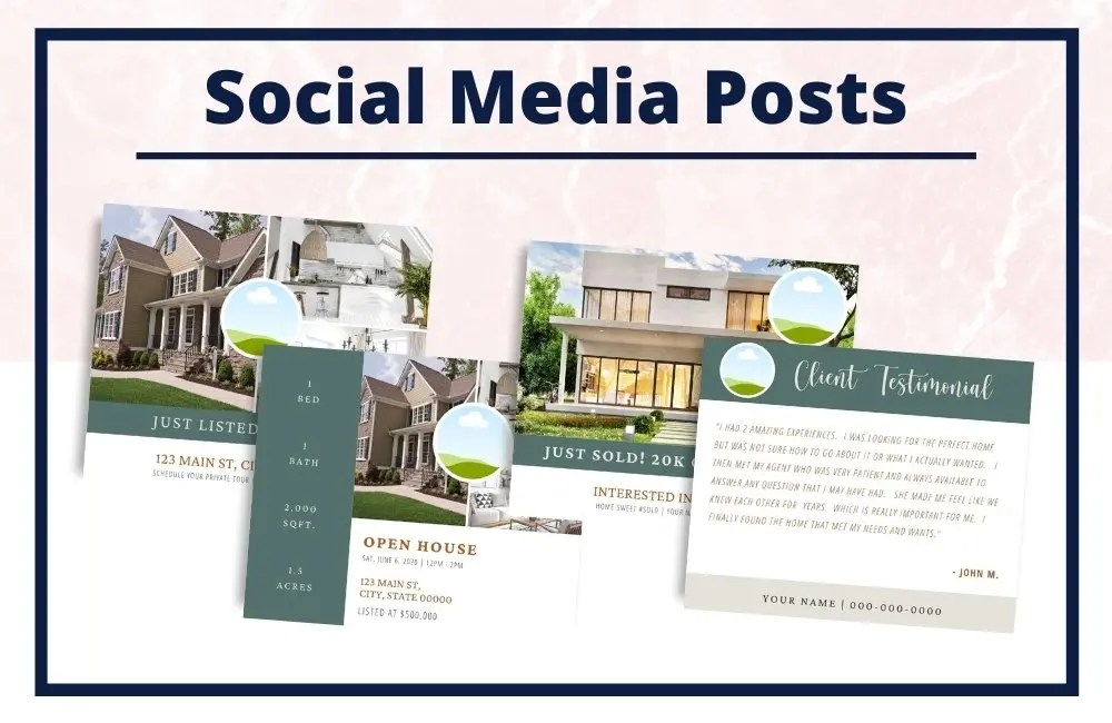 The Cheryl Collection - Social Media Posts - Real Estate Branding Bundle for Women