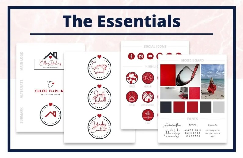 The Chloe Collection - The Essentials - Real Estate Branding Bundle for Women