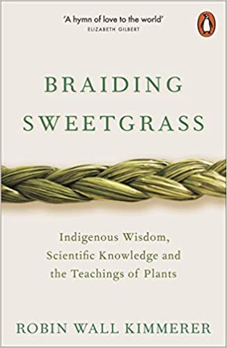 Cover page of the book braiding sweetgrass by Robin Wall Kimmerer