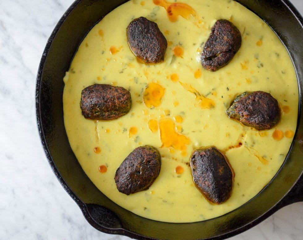 kale kofta kadhi curry