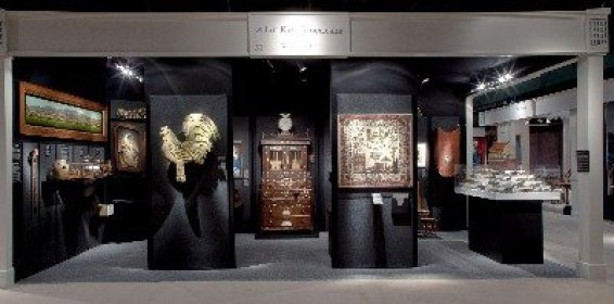 Allan Katz booth at the Winter Antiques Show