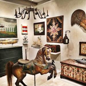 Art and Antiques booth at Winter Show