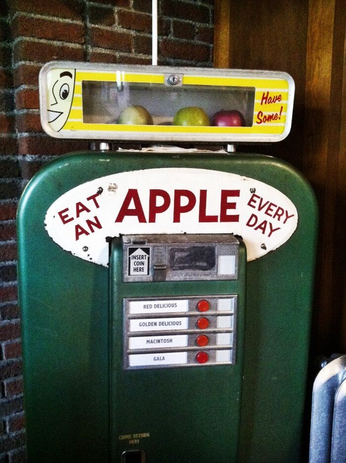 Apple Vending Machine  Close Up
