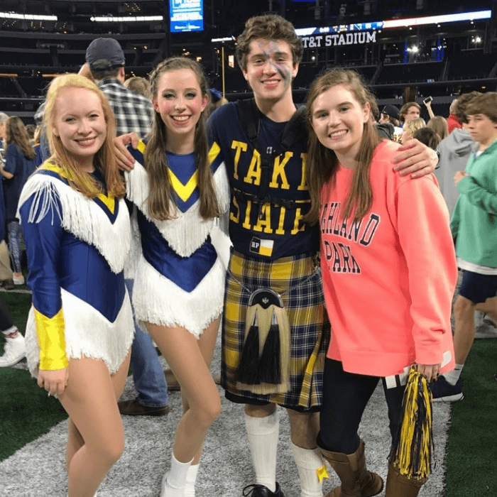 Highland Park High School Seniors at the 2017 State Championship Football Game