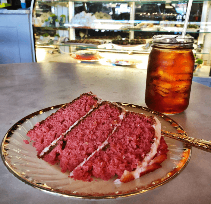 Best Ever Strawberry Cake at Ritual in Jacksonville, Texas!