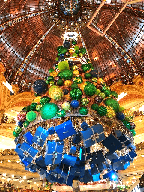 Galeries Lafayette Christmas Tree Stained Glass