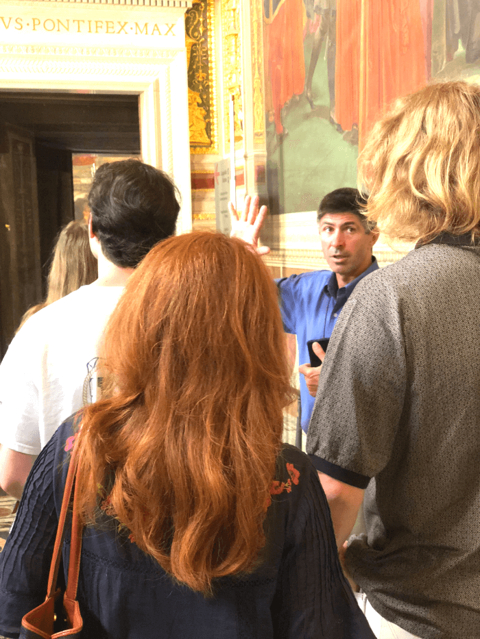 Rome Fact vs. Fiction Carlo Papini of Rome Guide Services in the Vatican Museum