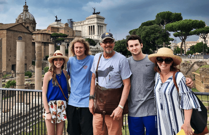 Family in the Roman Forum