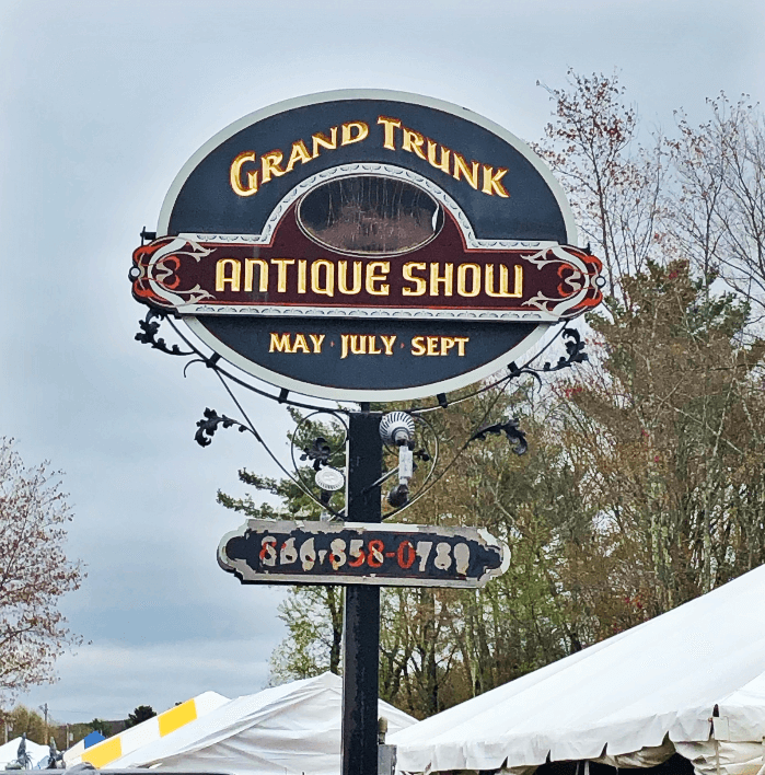 Grand Trunk Show Sign in Brimfield