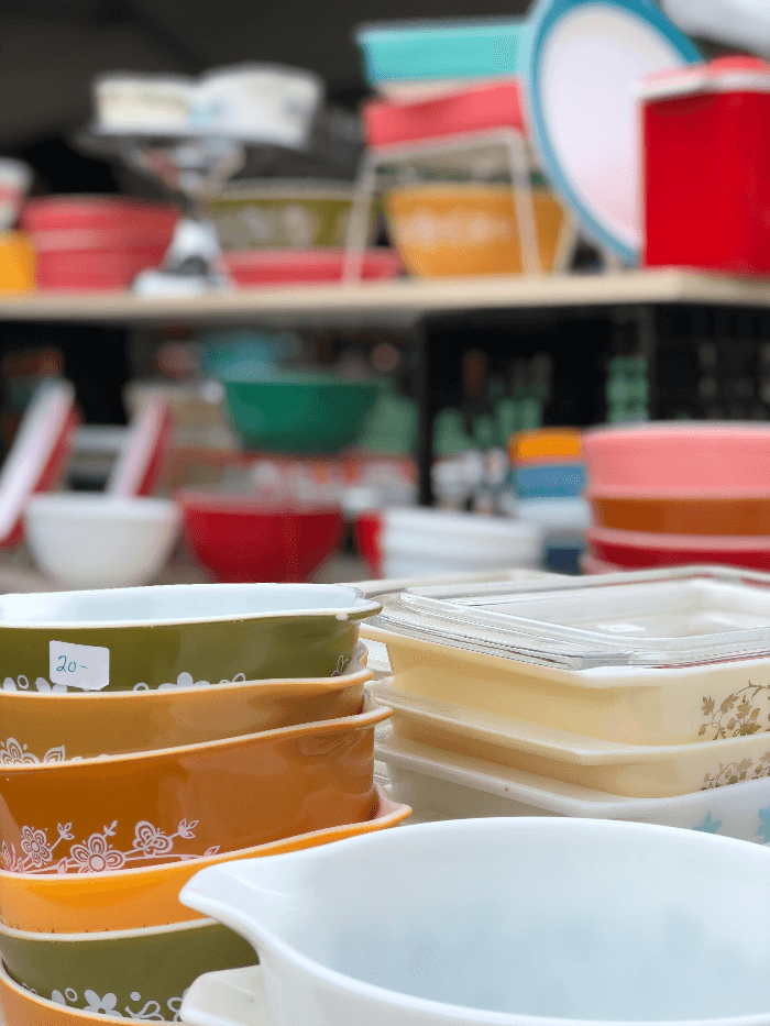 Vintage Pyrex at Brimfield Flea Market