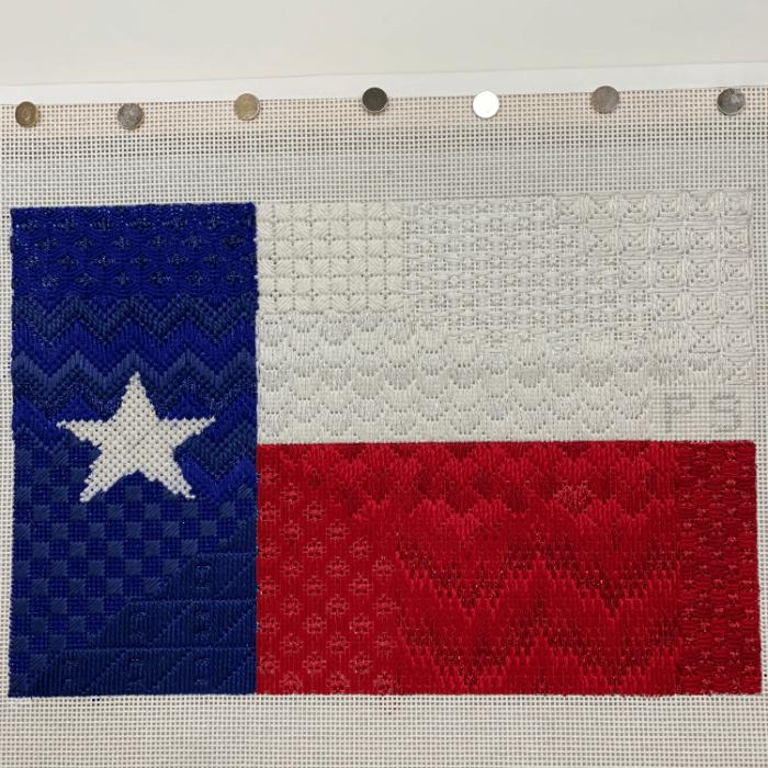 Texas flag needlepoint canvas