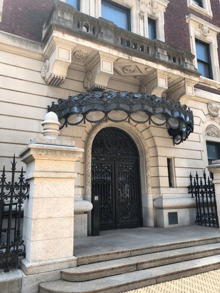 Entrance to the Cooper Hewitt Museum