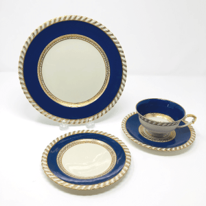 three cobalt blue and white Krautheil Selb Bavaria China